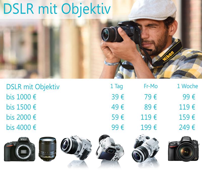 DSLR Kamera verleih - Kamera & Objektive rent bei Foto Seitz