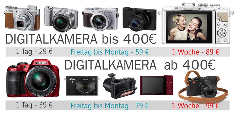 Digitalkamera verleih rent bei Foto Seitz