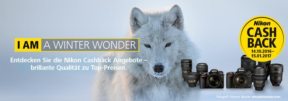 Nikon Winter Cashback Aktion bei Foto Seitz in der Nürnberger Innestadt