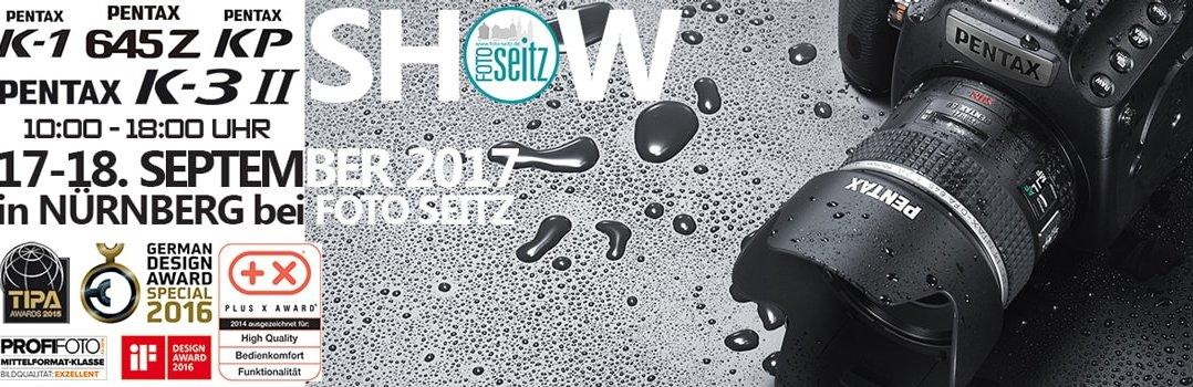 Pentax show bei Foto Seitz in Nürnberg 17 und 18 September 2017
