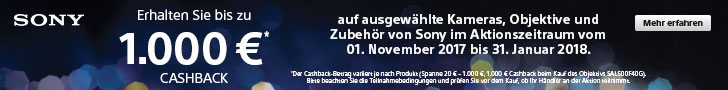 Sony Cashback-Aktion Winter 2017 bei Foto Seitz in Nürnberg