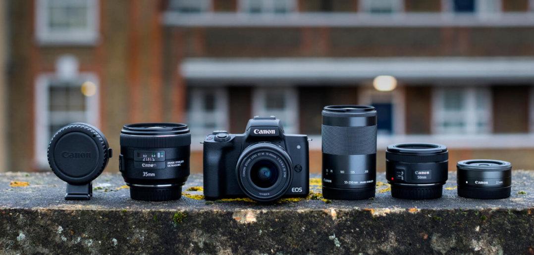 Canon EOS M50 mit Objketiven bei Foto Seitz