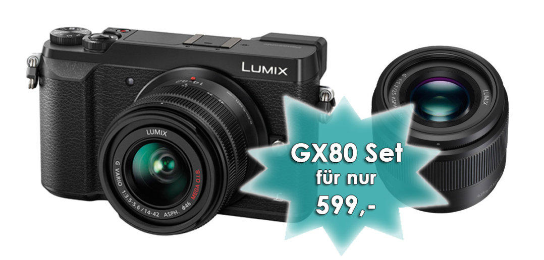 GX80 mit zwei Objektiven für nur 599 Euro bei Foto Seitz