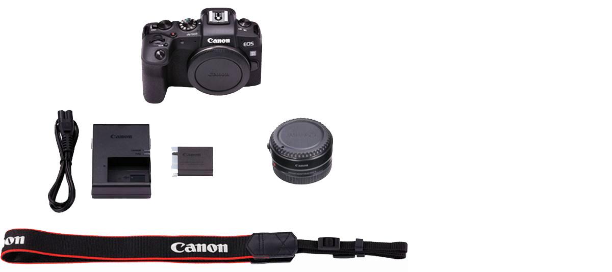 Der Lieferumfang der Canon EOS RP