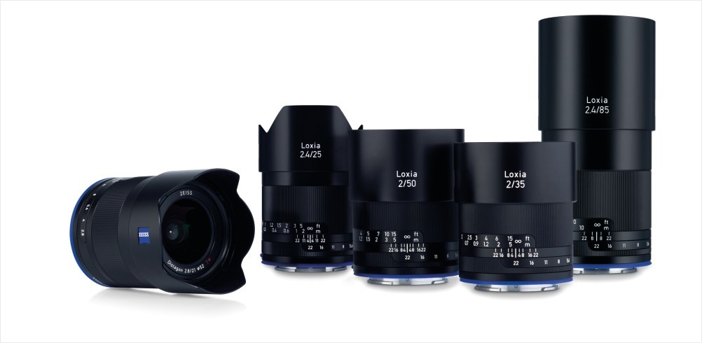 Gruppenaufnahme der ZEISS Loxia Produktfamilie