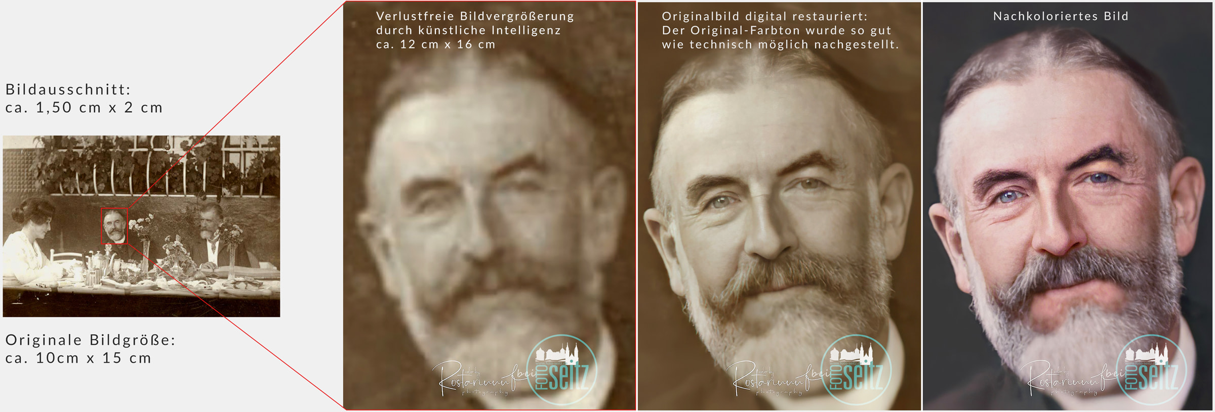 Fotorestaurierung Professionelle Fotoretusche und Bildbearbeitung bei Foto Seitz in Nürnberg