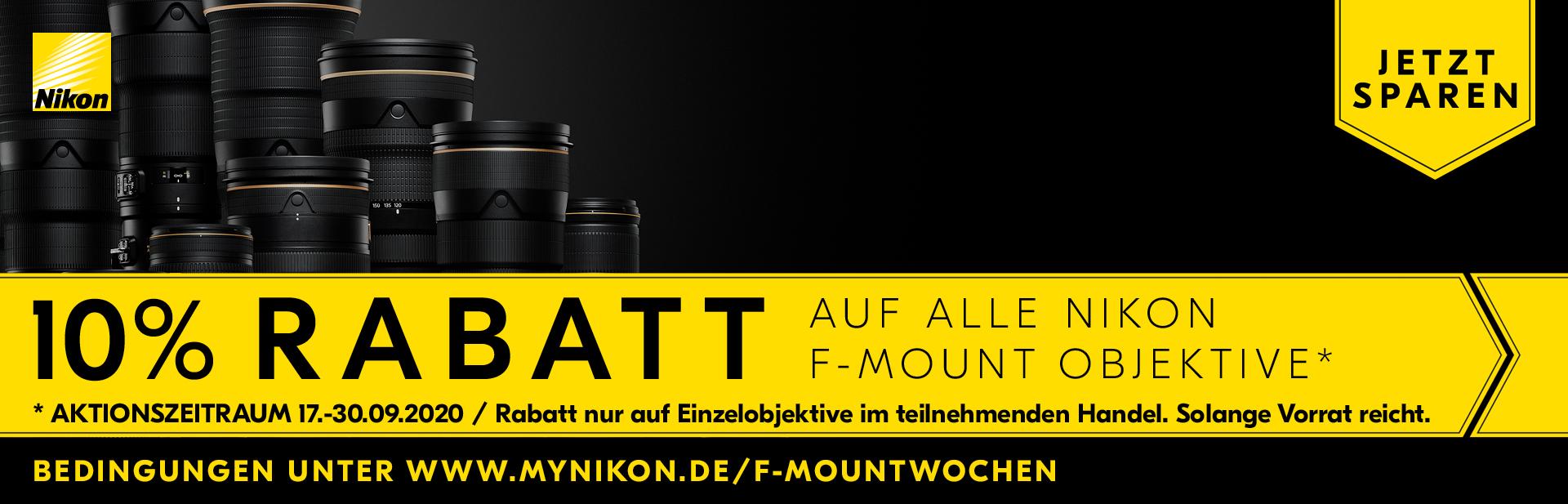 Nikon Lens Promo 10% Sofortrabatt Aktion